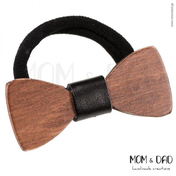 Ξύλινος Φιόγκος σε Λάστιχο - Mom & Dad 53011280